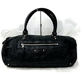 Balenciaga Boston Bag Polo Squash 871883 Black Leather Satchel