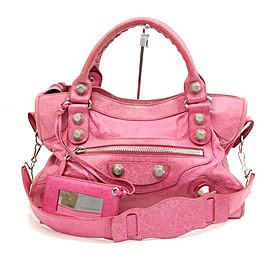Balenciaga Giant City 2way 1095551 Pink Leather Shoulder Bag
