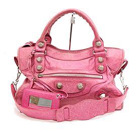Balenciaga Giant City 2way 1095551 Pink Leather Shoulder Bag