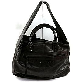 Balenciaga Shoulder Hobo Classic Bridge 872733 Brown Leather Weekend/Travel Bag