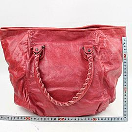 Balenciaga Sunday Tote 870903 Red Leather Shoulder Bag