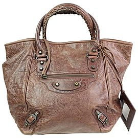 Balenciaga The Sunday 866440 Brown Leather Tote