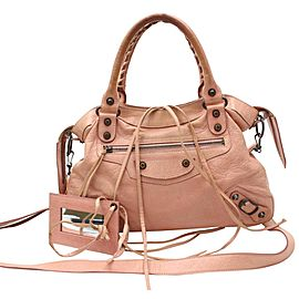 Balenciaga The Town 2way 865676 Pink Leather Shoulder Bag
