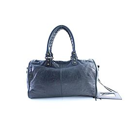 Balenciaga Twiggy 2way 24balr0605 Black Leather Weekend/Travel Bag