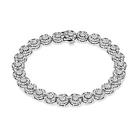 Jewelili 7ct 10K White Gold HI I2 Diamond Bracelet