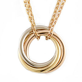 CARTIER 18K yellow goldx18K Pink Goldx18K white gold Baby Trinity Necklace CHAT-234