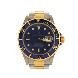 Rolex Oyster Perpetual Submariner Date Automatic Watch Stainless Steel and Yellow Gold 40
