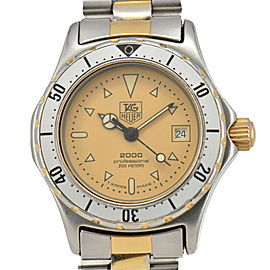 TAG HEUER 2000 974.008 Gold Dial GP/SS Date Quartz Ladies Watch