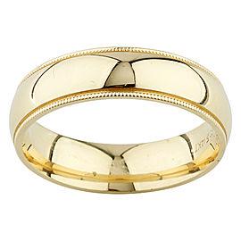 14K Yellow Gold Milgrain Wedding Band Ring Size 11
