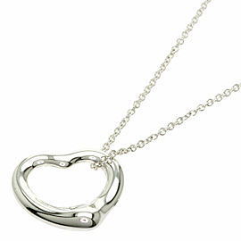 "TIFFANY & Co. Silver Open heart 0.6 "" Necklace"