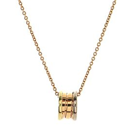 Bvlgari B.Zero1 Pendant Necklace 18K Tricolor Gold