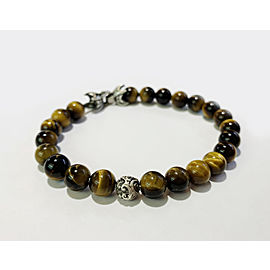 David Yurman Spiritual Beads Bracelet with Tiger's Eye and Silver Accent
