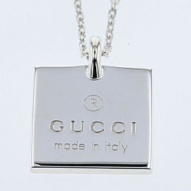 GUCCI 925 Silver Necklace TBRK-468