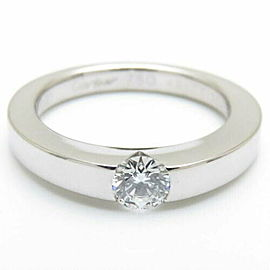 CARTIER 18K White Gold Diamond Date With Ring