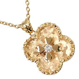 Clover Necklace K18 yellow gold/diamond Women