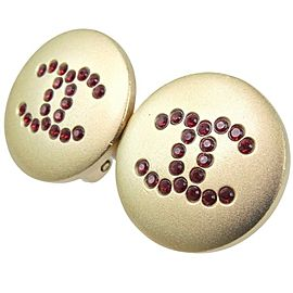 CHANEL Gold Plated COCO Mark Earring