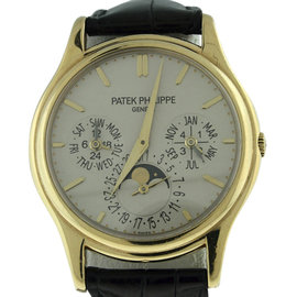 Patek Philippe Perpetual Calendar 5140J Moonphase 18K Yellow Gold 38mm Mens Watch