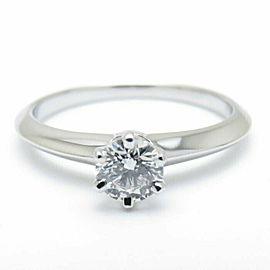 TIFFANY&CO 950 Platinum Diamond Solitaire Ring
