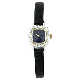 Omega 14K Yellow Gold Hand-Winding Diamond Bezel 19mm Vintage Womens Watch