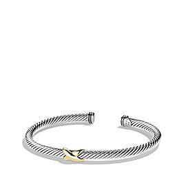 David Yurman Cable Classics X Station Bracelet with Gold, 4mm