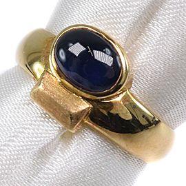 18k yellow gold/sapphire Ring
