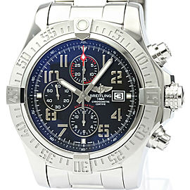 Polished BREITLING Super Avenger ll Chronograph Steel Mens Watch A13371