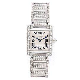 CARTIER TANK FRANCAISE Quartz Steel Full DIAMOND Watch