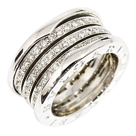 BVLGARI BULGARI 18K White Gold, Diamond B-Zero 1 M Ring CHAT-221