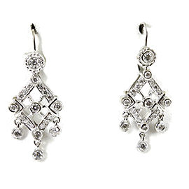 Doris Panos 18K White Gold 1.08tcw Small Anastasia Diamond Chandelier Earrings