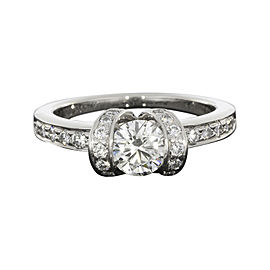 Tiffany & Co. Platinum and 0.64ct. Diamond Ribbon Design Engagement Ring Size 4.5