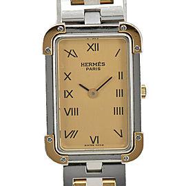 HERMES Clojure gold Dial SS/GP Quartz Ladies Watch