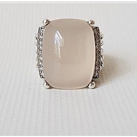 David Yurman Wheaton 20x15 Moon Quartz ( Moonstone) Diamond Ring