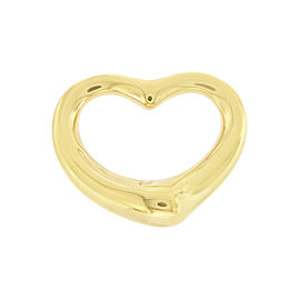 Tiffany & Co. Elsa Peretti 18K Yellow Gold Open Heart Charm Pendant