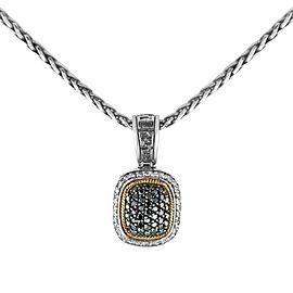 Effy Balissima Sterling Silver & 18k Gold Diamond Pendant