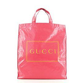 Gucci Logo Shopper Tote Coated Cotton Tall