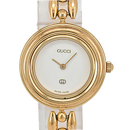 GUCCI Change bezel 11/12 White Dial Quartz Ladies Watc
