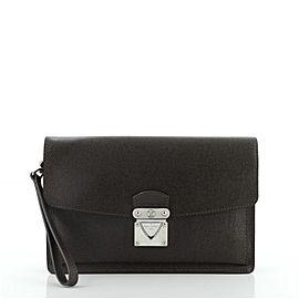 Louis Vuitton Belaia Clutch Taiga Leather