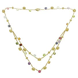 Marco Bicego 18K Yellow Gold with Multiple Stone Paradise Necklace