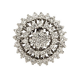 14K White Gold Diamond Ring Size 9.25