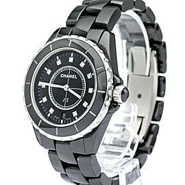 CHANEL J12 Diamond Ceramic Quartz Mens Watch H2124