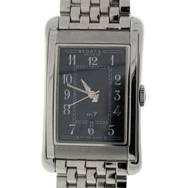 Bedat & Co. No.7 Stainless Steel Black Dial Mens Watch