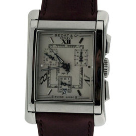 Bedat & Co. No.7 Stainless Steel & Leather Chronograph Mens Watch