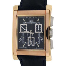 Bedat & Co. No.7 18K Rose & Yellow Gold Chronograph Mens Watch