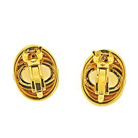 Marina B Citrine Diamond Gold Earrings