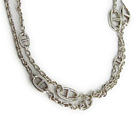 Hermes Chaine Ancre 925 Sterling Silver Necklace
