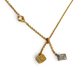 Louis Vuitton Swarovski Silver & Gold Tone Hardware Pendant Necklace