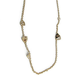 Louis Vuitton Gold Tone Metal Swarovski Trunkies Necklace