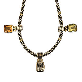Lagos Sterling Silver & 18K Yellow Gold Citrine, Topaz & Quartz Necklace