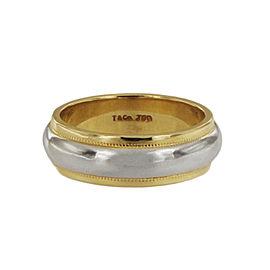 Tiffany & Co. Two Tone Gold Milgrain Band Ring