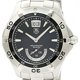 Polished TAG Heuer Aquaracer Grande Date Quartz Mens Watch WAF1010